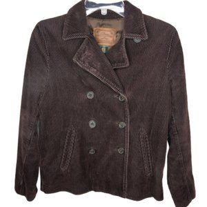Lauren Ralph Lauren Brown Corduroy Pea Coat -  S